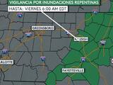 Inundaciones repentinas y fuertes lluvias: emiten alertas en estos condados de Carolina del Norte