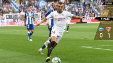 Chicharito debuta en el triunfo del Sevilla ante el Alavés