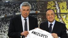 Ancelotti defendió a Florentino Pérez tras ataque de Ceferin