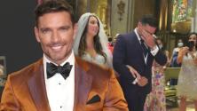 Entre lágrimas, Julián Gil entregó en el altar a su hija Nicolle para su boda con Iñigo Ariño
