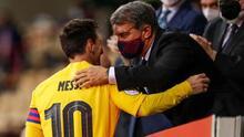 Laporta esperaba que Messi jugara gratis en el Barcelona