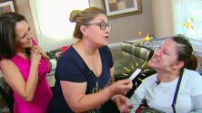 El 'Ángel de la Justicia' llegó con buenas nuevas para esta soñadora que padece parálisis cerebral