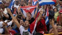 Pedidos de libertad para Cuba y algo de tensión: así fue la masiva manifestación que se realizó en Miami