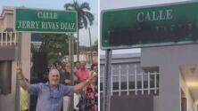 Vandalizaron ya el letrero de la nueva calle Jerry Rivas en Bayamón