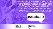 ¿Qué piensa la comunidad sobre temas de inmigración? Univision 23 Miami busca respuestas