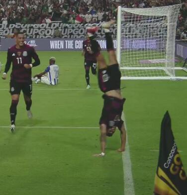 ¡México ya golea! Orbelín Pineada celebra con pirueta el 3-0