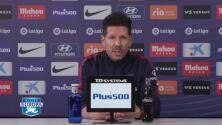 Diego Simeone reconoce que siente admiración por el Real Madrid
