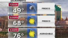 Día fresco y un poco soleado por la tarde de este miércoles en Sacramento