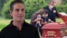 Carisa de León y el pequeño hijo de Xavier Ortiz acudieron a darle una emotiva despedida al cantante