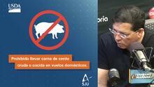 """""""Este virus no hay manera de matarlo"""" Explican las restricciones de productos de cerdo por amenaza de peste porcina africana"""