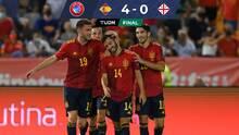 España enderezó el rumbo con cómoda victoria sobre Georgia