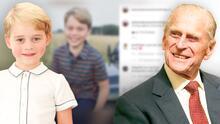 El príncipe George posa para Kate Middleton en su octavo cumpleaños con un tributo a su fallecido bisabuelo