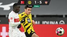 Giovanni Reyna se luce con golazo, pero Dortmund sufre goleada