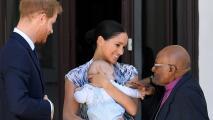 Así fue el primer compromiso oficial de Archie en África con el premio Nobel de la paz Desmond Tutu