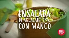 Ensalada de aguacate con mango