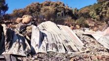 Lo perdieron todo: familia vuelve a su casa tras el paso del incendio Alisal y los vecinos decidieron ayudarles con dinero