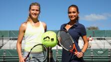 Sensualidad y belleza del tenis con Eugenie Bouchard y Hannah Davis