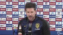 """Diego Simeone, molesto: """"Me pueden hacer mil preguntas que me da igual"""""""