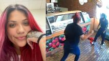 (VIDEO) Latina se enfrenta a ladrón mientras trabajaba y la compañía la suspendió