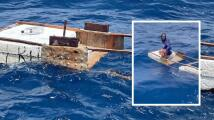 Así rescatan a un balsero cubano cerca de Key Biscayne: tenía 10 días a la deriva y sus otros tres compañeros murieron en el camino