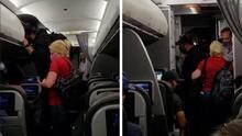 Se niegan a usar mascarillas y los sacan de un avión con destino a Houston