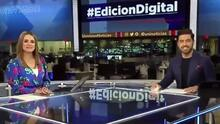 """""""Locura desenfrenada"""": Carolina Sarassa y Borja Voces muestran el detrás de cámaras del Noticiero Edición Digital"""