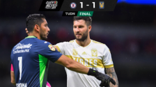 Resumen | Cruz Azul reparte puntos con Tigres al empatar 1-1 en el Azteca