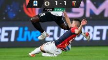 Johan Vásquez sigue en la titularidad, el Genoa rescata el empate