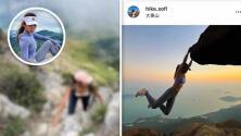 Influencer de 32 años muere tras resbalar al intentar tomarse fotos en una cascada