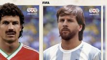 ¡Qué retro! Así lucirían los futbolistas al estilo México 86