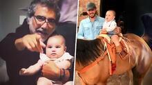 Alejandro Fernández 'muere de amor' al ver a su nieta de 7 meses cabalgando con mucho estilo
