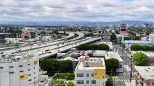 Se reporta tráfico ligero en las principales vías de Los Ángeles esta mañana de miércoles