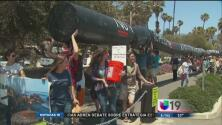 Protestan por derrame de combustible en CA