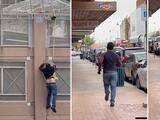 Transmisión en vivo capta el momento en que inmigrantes saltan el muro fronterizo en Arizona