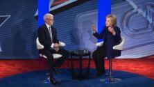 Hillary Clinton y Bernie Sanders participan en foro en New Hampshire
