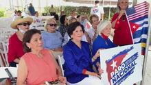 Miembros del exilio cubano en el sur de Florida conmemoran el Grito de Yara