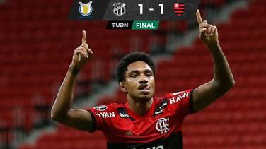 Flamengo sufrió pero rescató un punto en su visita al Ceará