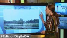 El mal tiempo en San Antonio acapara las redes sociales