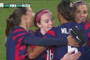 ¡Llega el quinto! Rose Lavelle se escapa y marca el 5-0 con un tiro cruzado