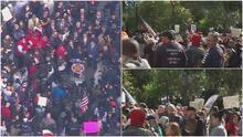 Bomberos y otros trabajadores municipales se manifiestan frente a Gracie Mansion por mandato de vacunación