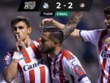 Resumen | Puebla le 'regala' el 2-2 al San Luis con un penalti sobre la hora