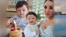 """""""Anonadado"""": así quedó el hijo de Sherlyn en su primer cumpleaños en la playa"""