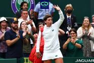 Carla Suárez se despidió de Wimbledon en medio de lágrimas de emoción