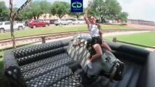 Ana Caty Hernández quiso emular a los Cowboys en el toro mecánico