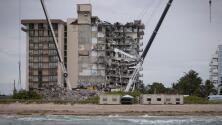 """""""Todo el edificio ha caído"""": mensaje de voz de inquilina en medio del derrumbe en Surfside"""