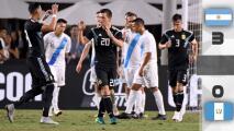 Argentina venció a Guatemala a medios gas