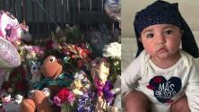 Realizan una vigilia en memoria de la bebé que apareció muerta al lado de un contenedor de basura en California