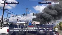 Esto se sabe sobre el masivo incendio en edificio relacionado con el cultivo de marihuana en Los Ángeles