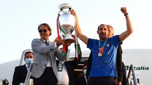 ¡It's in Rome! El campeón de Europa llega a casa entre aplausos