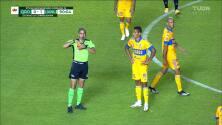 ¡Tarjeta Roja! Francisco Meza recibe la segunda amarilla y se va del juego.